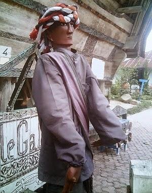 Patung Sigale gale wujud karya budaya Batak Toba