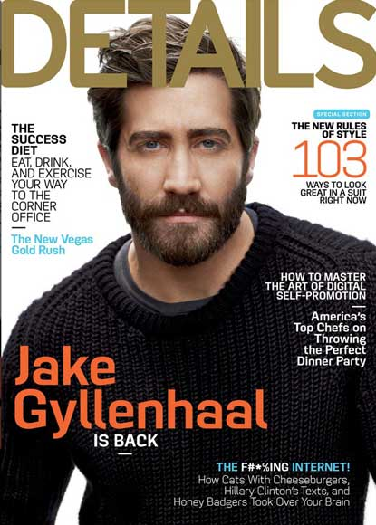 Jake Gyllenhaal on Details Magazine Cover