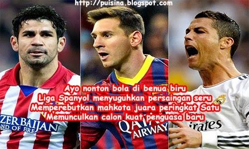 puisi klasemen La Liga 2013-2014