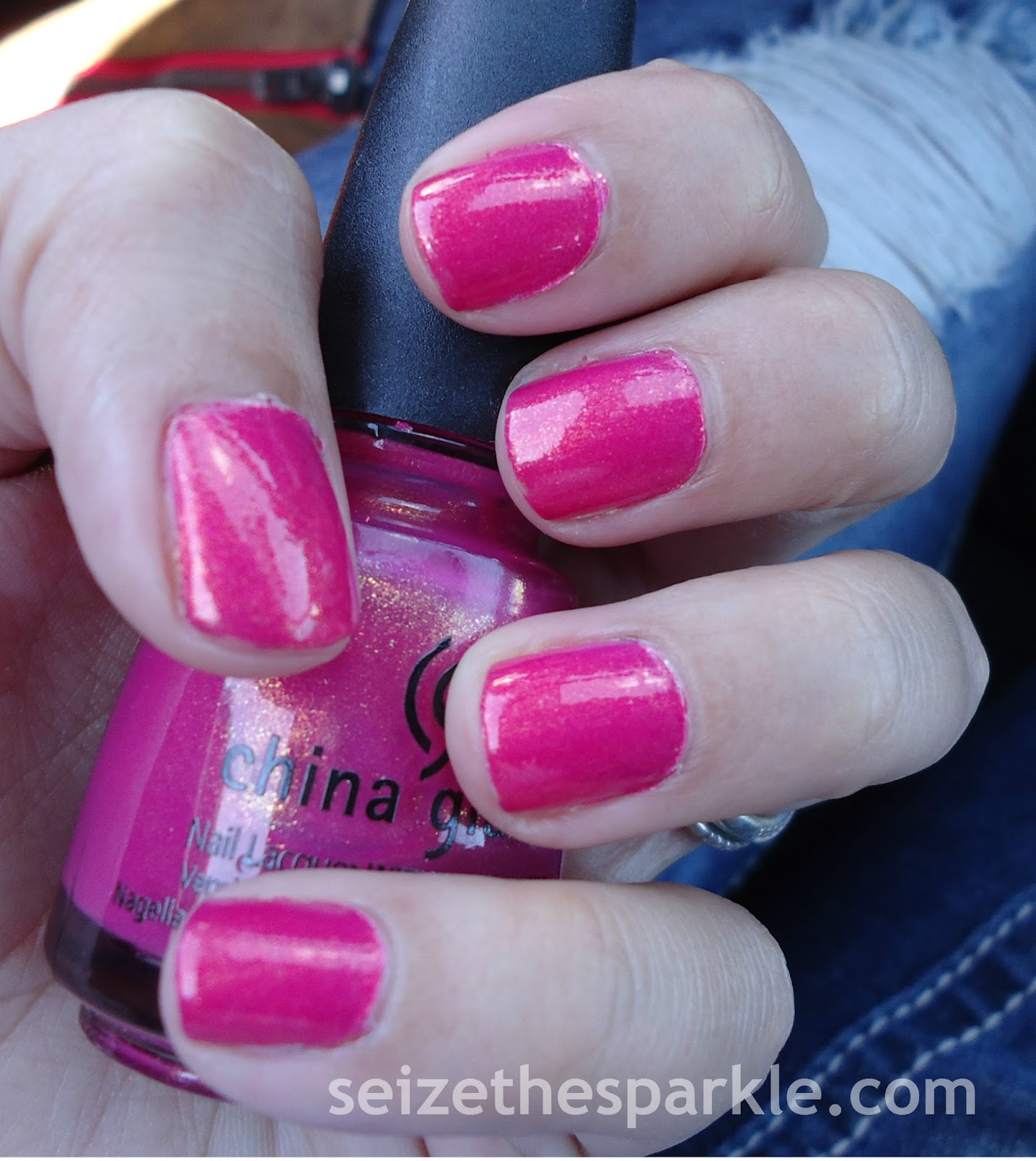 China Glaze Strawberry Fields, Sinful Colors Gilded