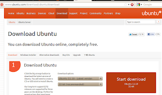 Ubuntu 11.10 at Download page
