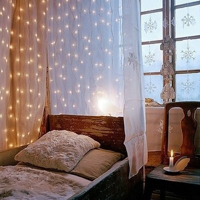 create a romantic bohemian mood bohemian lighting fairy lights