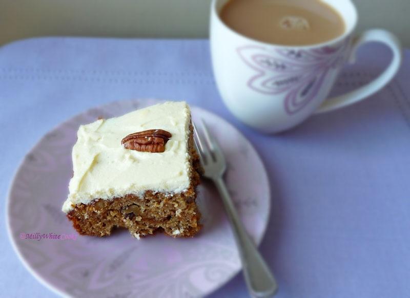Gluten-Free Pecan & Carrot Tray Bake