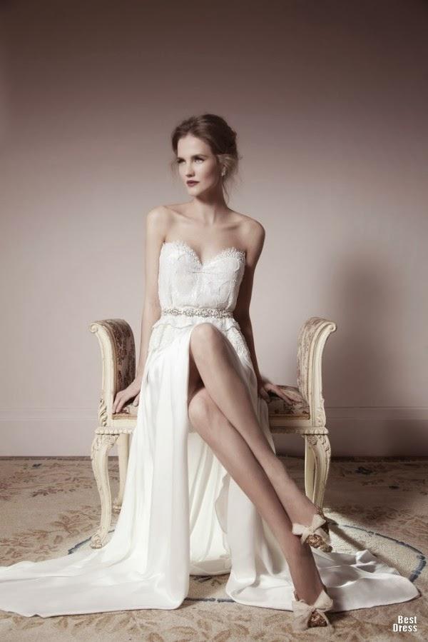 Moderno y sencillos vestidos de novia