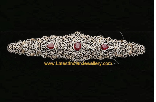 Designer Diamond Waist Belt