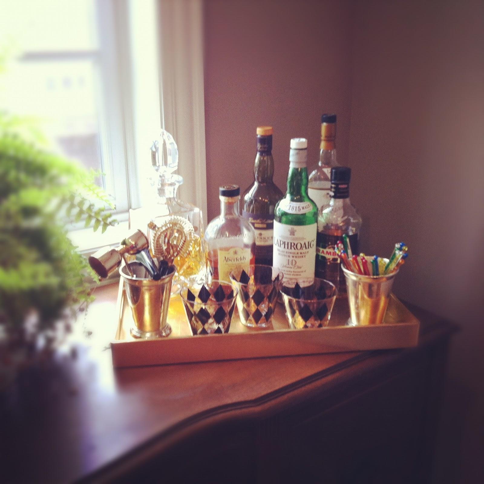 mad men inspired bar tray  design improvised - retro  vintage bar