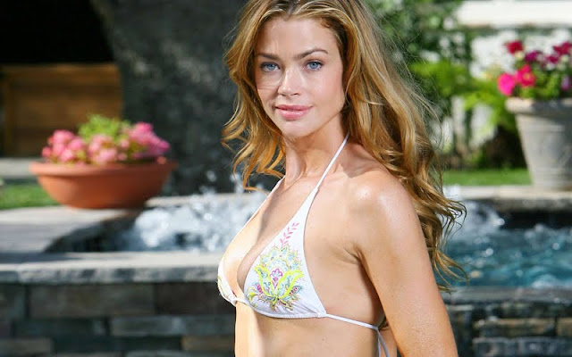 Denise Richards sexy in lingerie  fashion