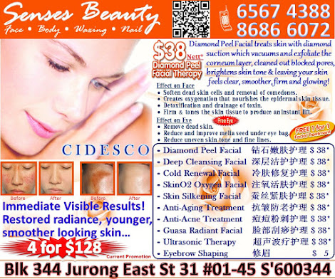 Senses Beauty let your skin shines like never before. Call 65674388 / 86866072 for appt NOW!!!