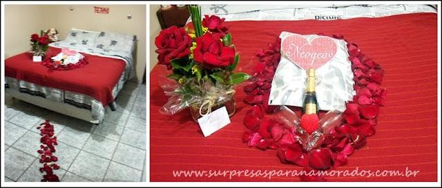 surpresa e presente para namorada