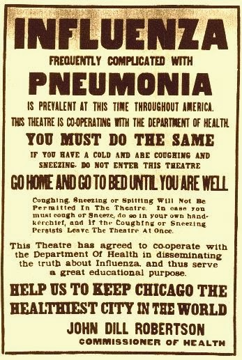 the great influenza epidemic The influenza pandemic of 1918 killed an estimated 50 million people  brown,  who was stationed at great lakes naval station near chicago.