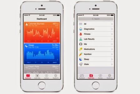 Inilah fitur baru dari iOS 8, foto dan video - Health