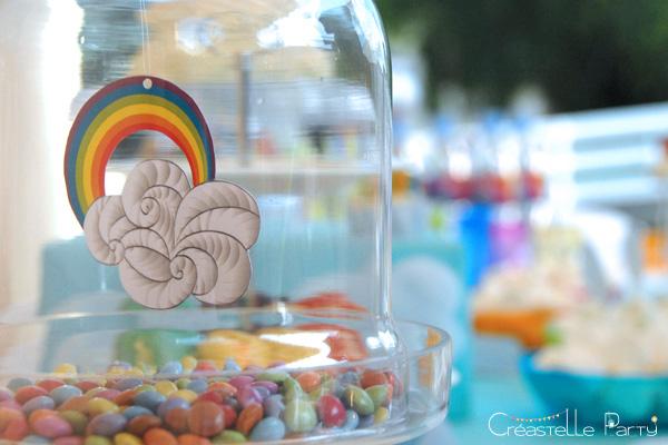 Sweet table arc-en-ciel / rainbow decoration