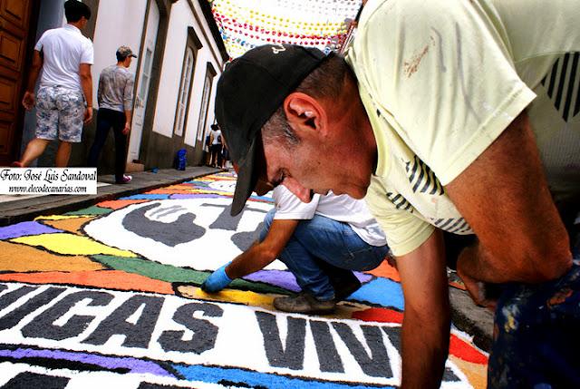 las alfombras del Corpus en Arucas 2015 Gran Canaria