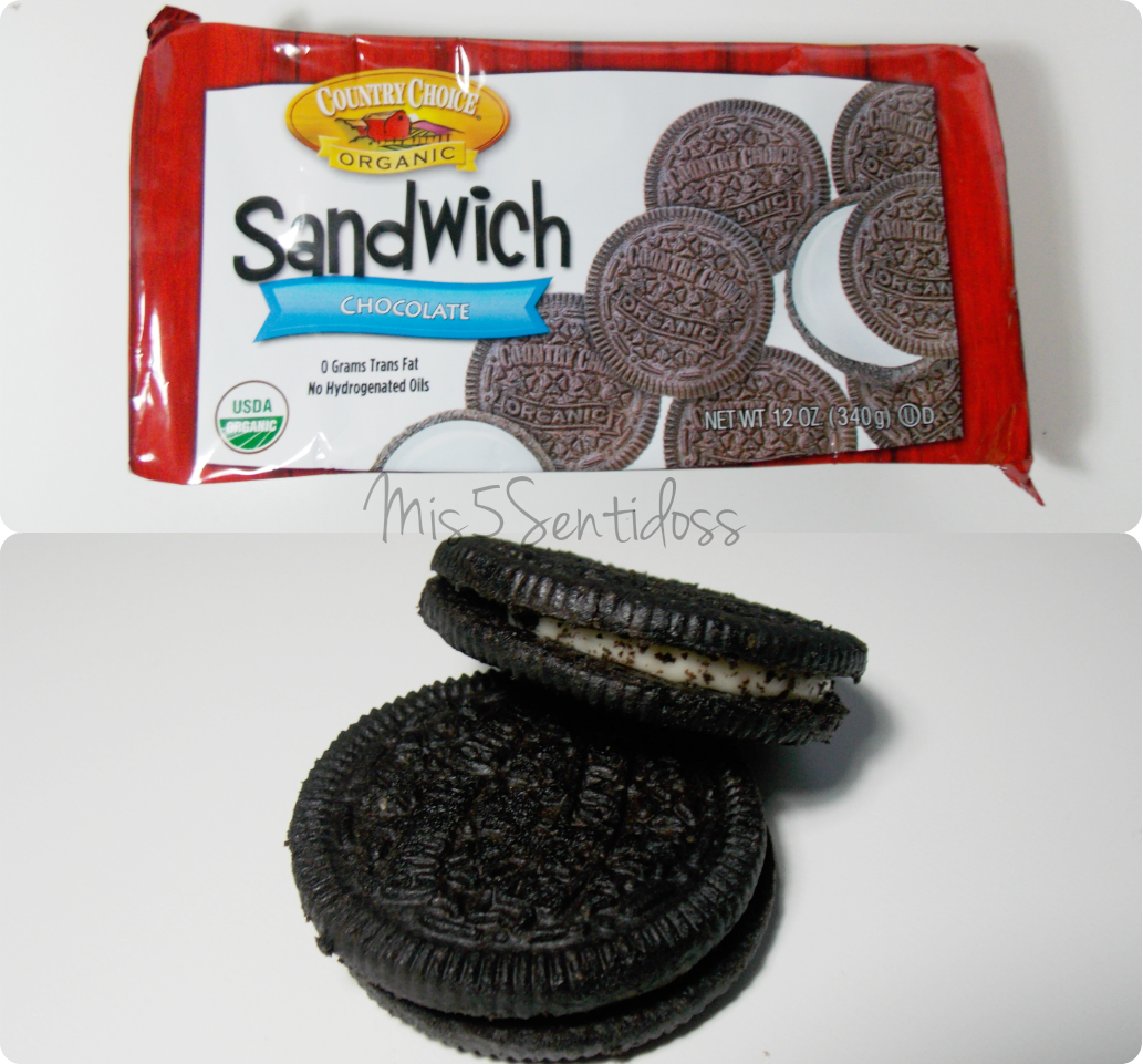 Galletas de chocolate (tipo Oreo), Country Choice Organic