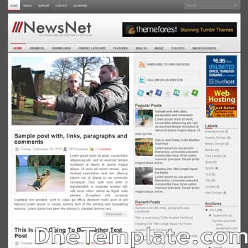 NewsNet blog template. magazine blogger template style. magazine style template blogspot. 3 column blogspot template