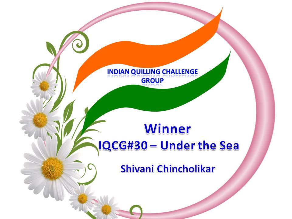 IQCG September Challenge Winner