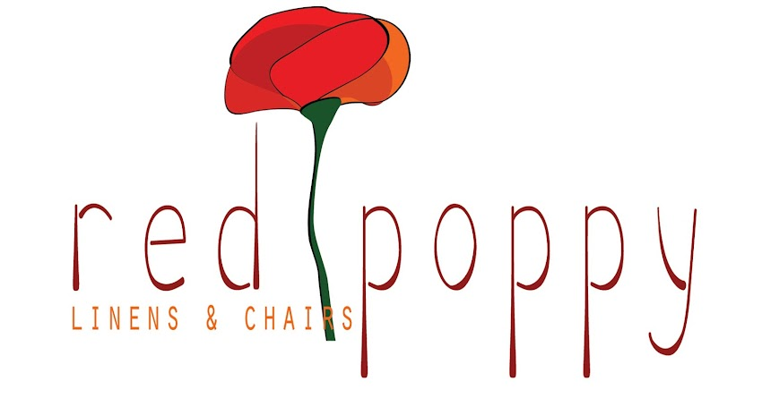 Red Poppy Linens and Chairs