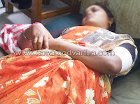 Attack, Police, Women, Kanhangad, Case, General-Hospital, Kasaragod, Kerala, Kerala News.