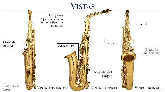 partes de un saxofon