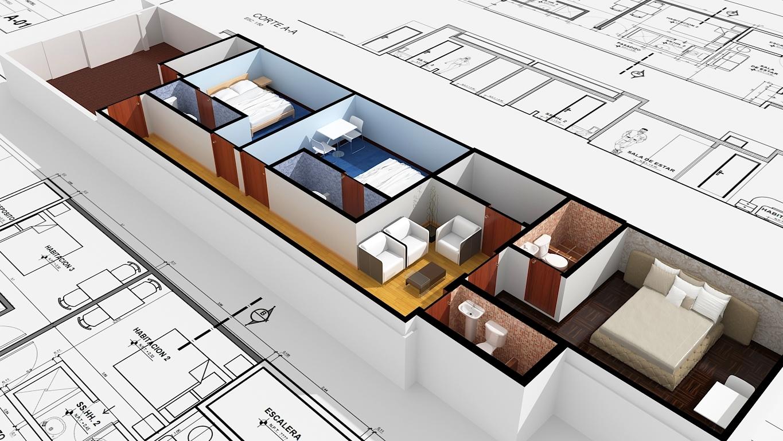 Af arquitectura y mobiliario hospedaje ampliaci n 3 piso for Hospedaje para universitarios
