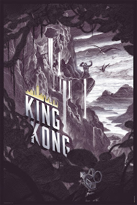 King Kong Lavender Canvas Variant Screen Print by Nicolas Delort