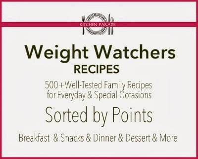 Weight Watchers Recipes from Kitchen Parade, all sorted by points. Five hundred+ well-tested family recipes for everyday and special occasions.