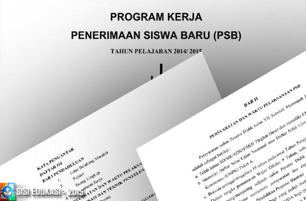 Program Kerja Penerimaan Siswa Baru (PSB) untuk SMP