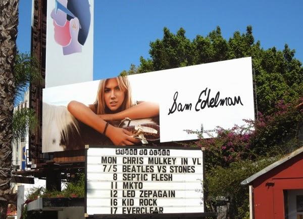 Kate Upton Sam Edelman shoes Summer 2014 billboard