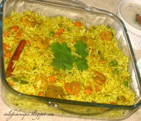 prawn pulao