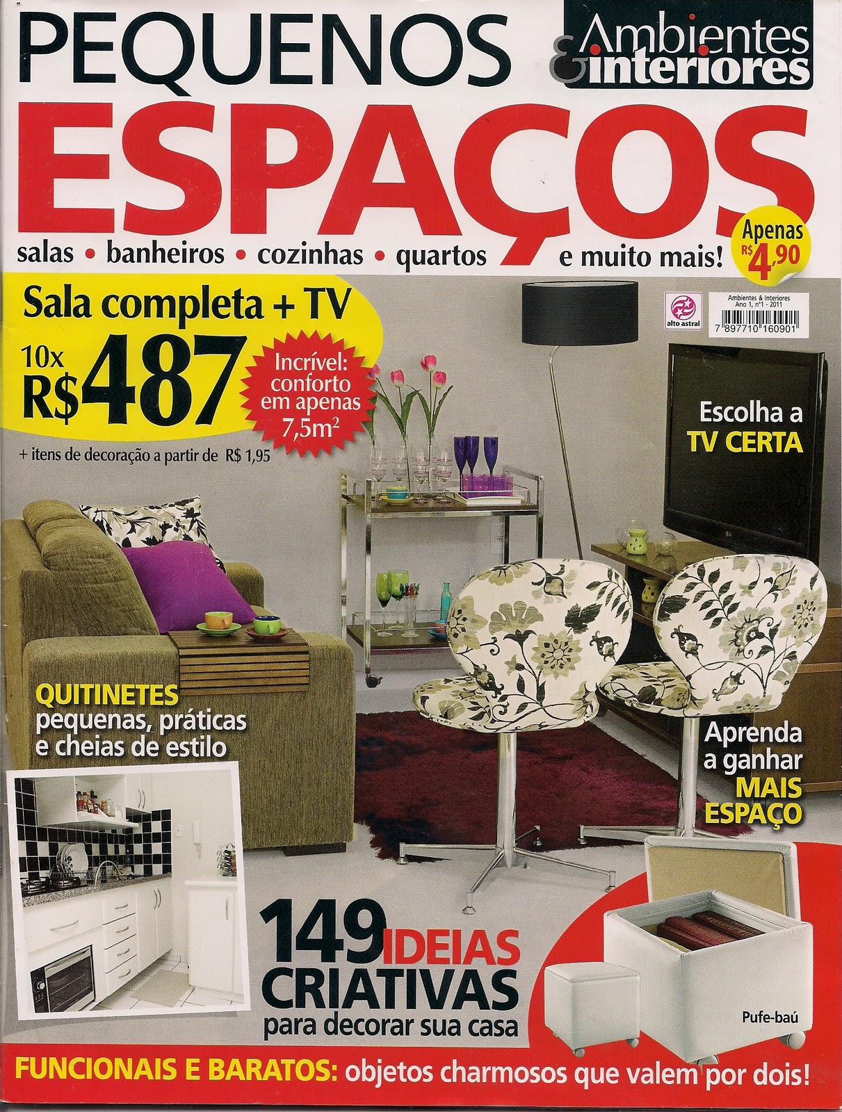 decoracao interiores ambientes pequenos : decoracao interiores ambientes pequenos:Ellen Inserilo : Revista Pequenos Espaços – Ambiente & Interiores