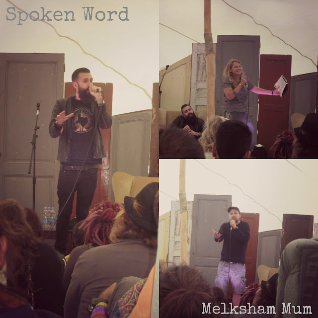 Spoken word with Scroobius Pip, Kate Tempest and Polar Bear in the Guardian Literary Institute tent Camp Bestival 2013