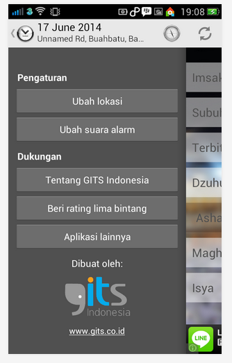 Aplikasi Android Jadwal Sholat & Imsak