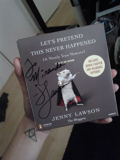 let's pretend this never happened signed by jenny lawson