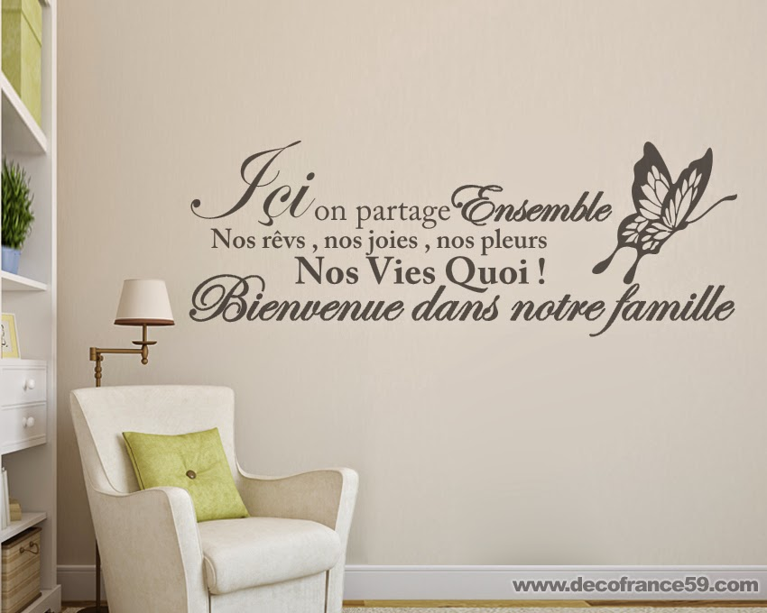 sticker mural dcortif texte ici on partage ensemble nos reves un sticker idal pour dcorer with. Black Bedroom Furniture Sets. Home Design Ideas