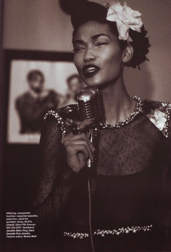 Chanel Iman by Peter Lindbergh for Harper's Bazaar (September 2009) | Ses Rêveries