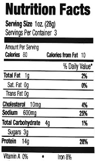 jennys jerky nutrition facts