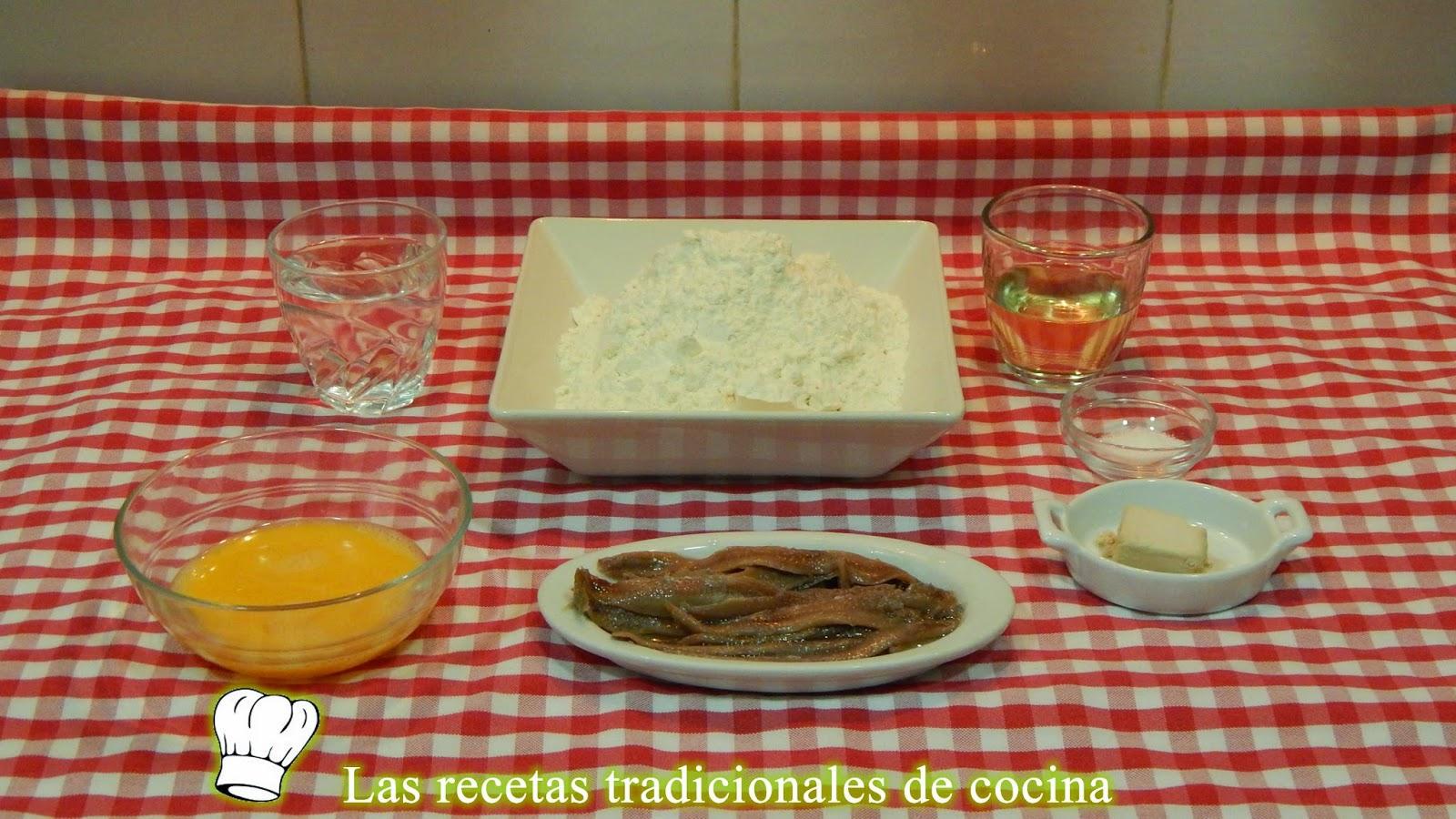 Receta fácil de rosquilletas rellenas de anchoa