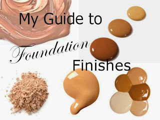 Guide to foundations- foundation finishes - matte - satin - luminous - high shine