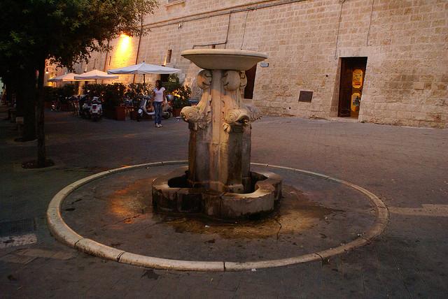 Italian fountain square