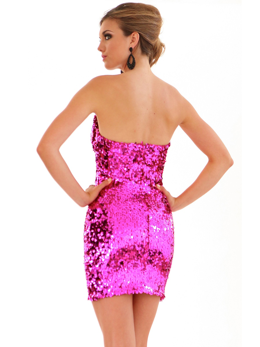 Vestidos y Accesorios de Moda: Sexy Vestido Multicolor con Lentejuelas