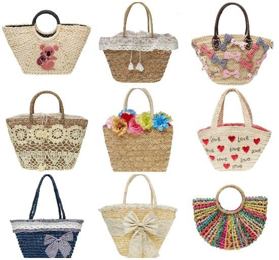 Borse Di Paglia Decorate Alluncinetto : Pizzoecrinoline le cinque borse indispensabili