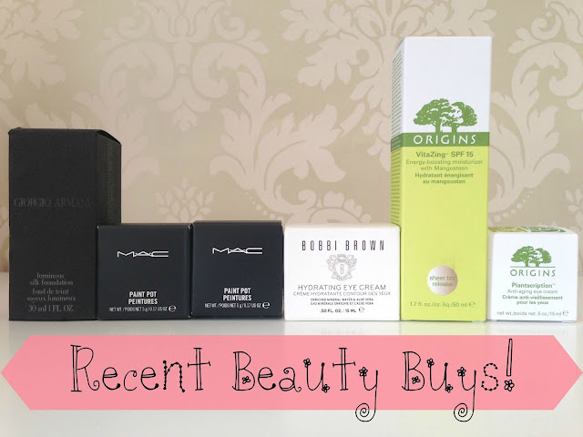 Recent Beauty Buys ft Giorgio Armani, Mac, Bobbi Brown, Origins