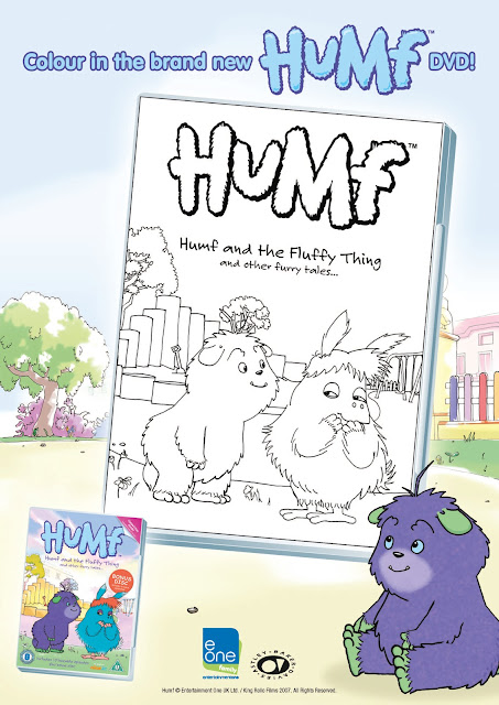 Humf and The Fluffy Thing Colouring In Sheet