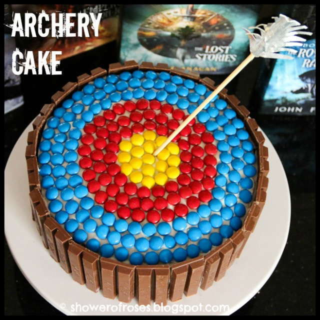 Shower Of Roses Rangers Apprentice Archery Target Cake