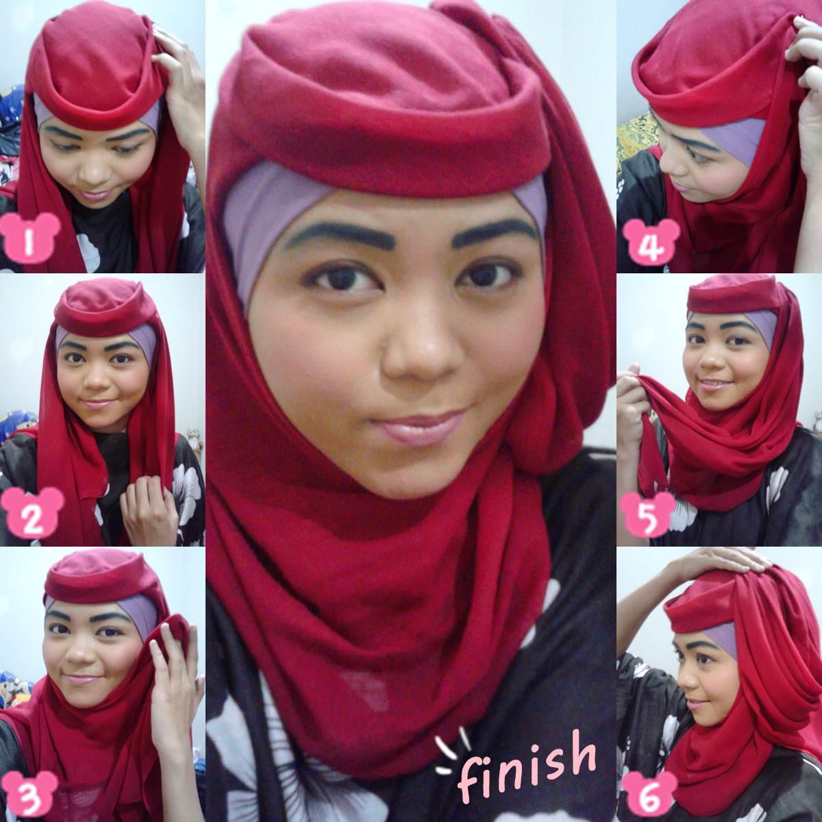 Tutorial Modern Style Hijab Cap Cuap Sana Sini