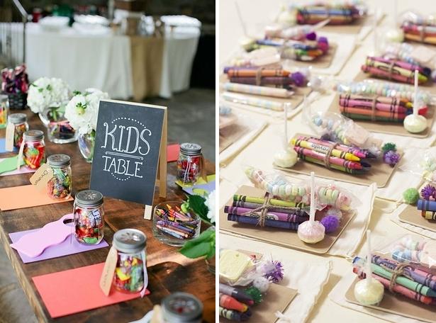"""""""cómo decorar mesas de niños para bodas"""""""