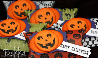 Halloween Treat Boxes with Pumpkin Faces