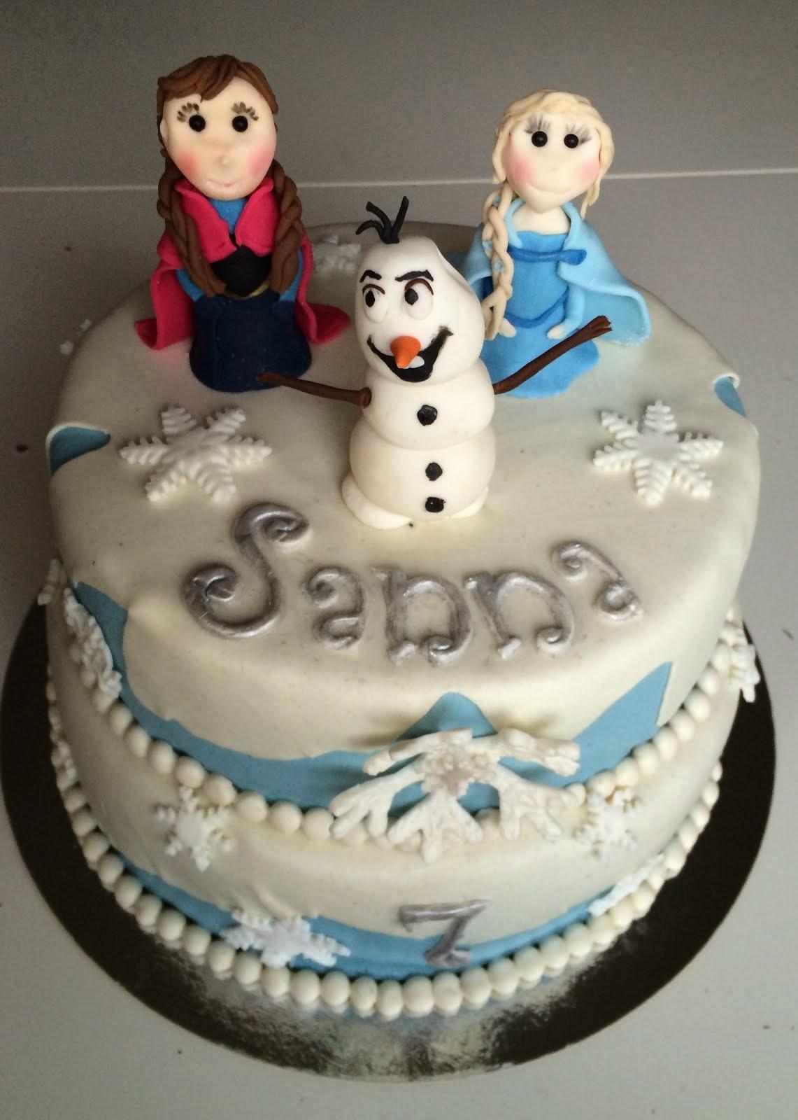 Frosttårta med Anna Elsa och Olof