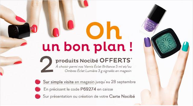 2 produits de maquillage Nocibé offerts !