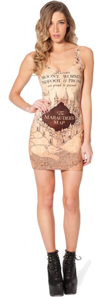 Marauders map cover dress black milk - Black Milk Harry Potter Collection Peaches And Bear Lifestyle
